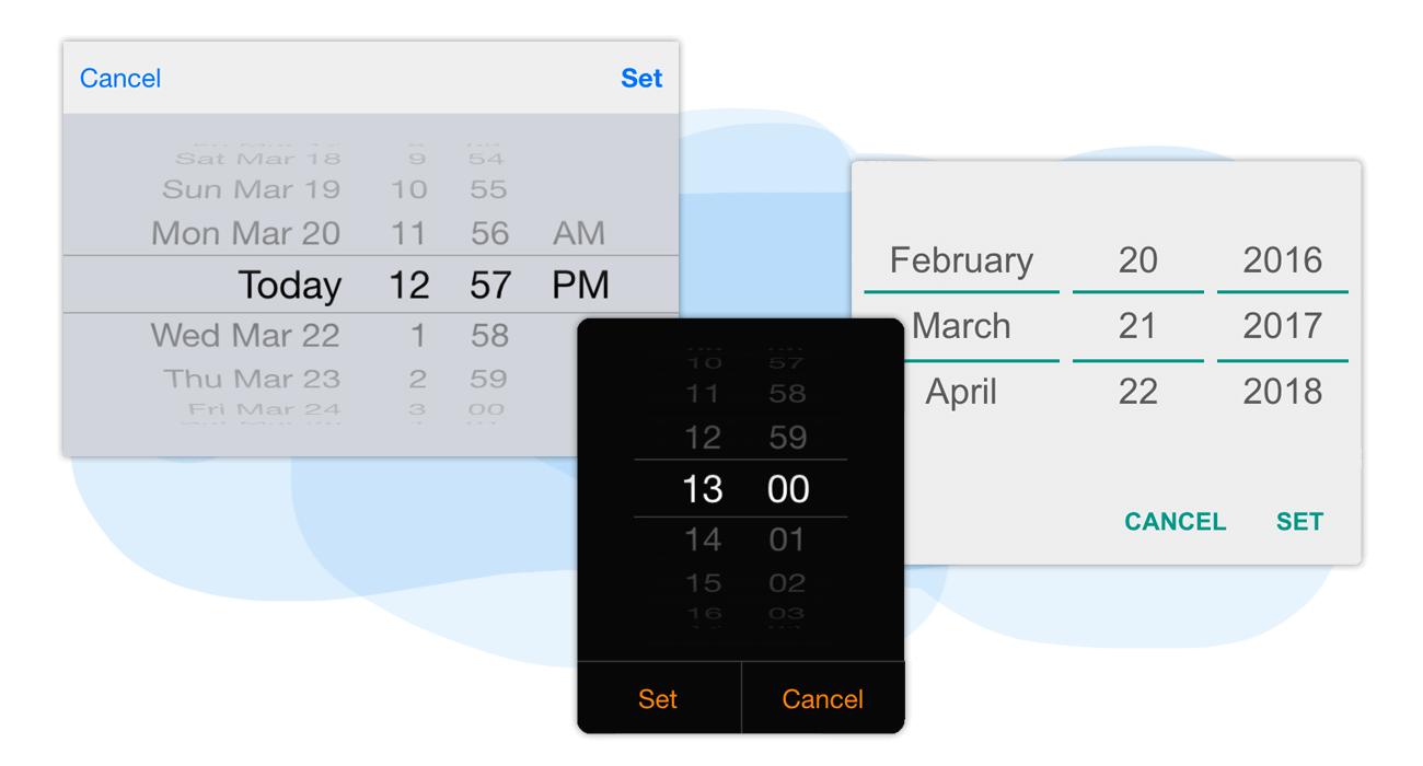 Advanced date & time picker