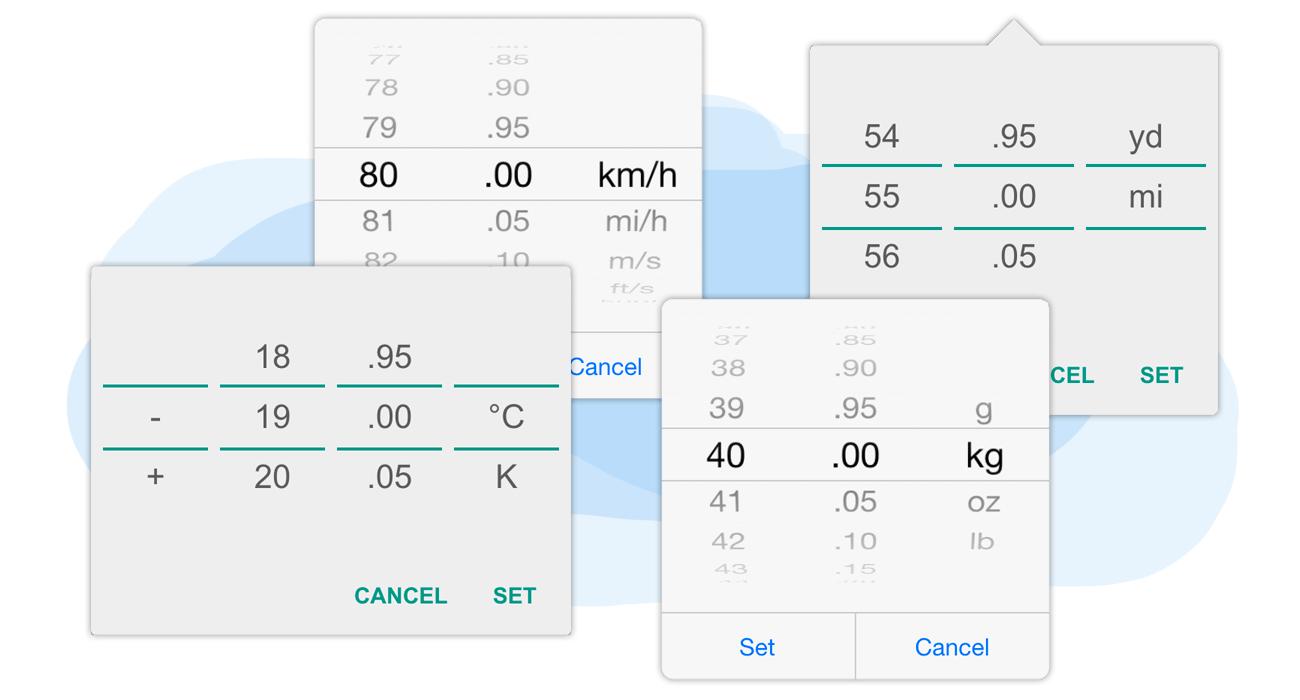 Measurement scroller & conversion engine